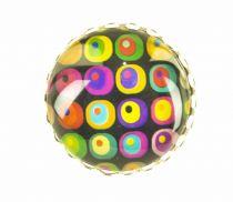 Bague ronde carré pop Liligambettes