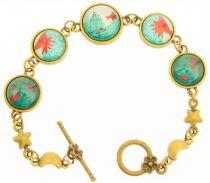 Bracelet oiseaux bleus Liligambettes