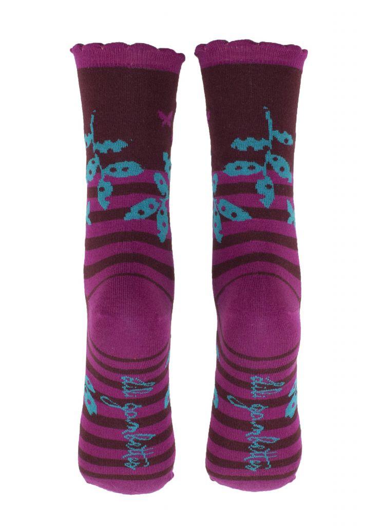 Chaussettes à rayures écologiques Liligambettes thème folio