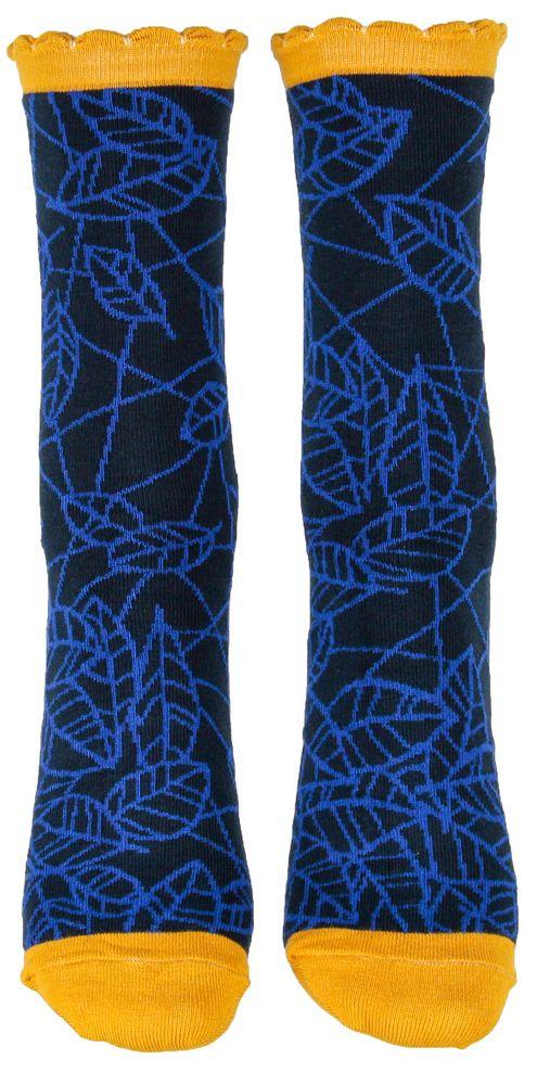 Chaussettes bleues bombyx en coton bio Liligambettes