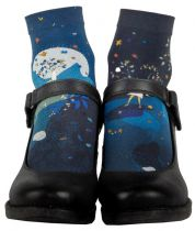 Chaussettes bleues imprimées artémis Liligambettes