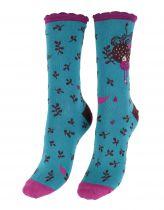 Chaussettes coton biologique turquoise Liligambettes thème dream