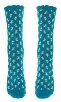 Chaussettes écologiques bleues fantaisie Lili gambettes