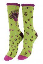 Chaussettes écologiques vert pistache Liligambettes thème dream