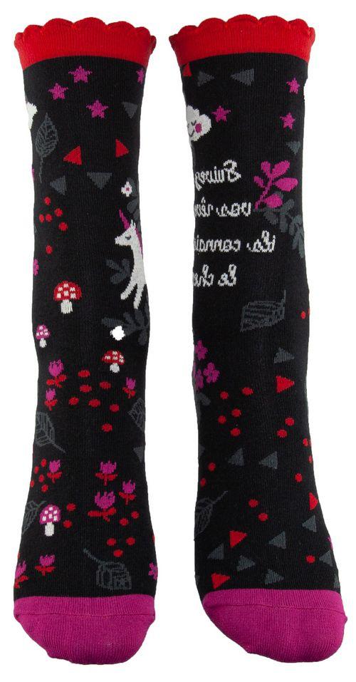 Chaussettes en coton bio licorne Liligambettes