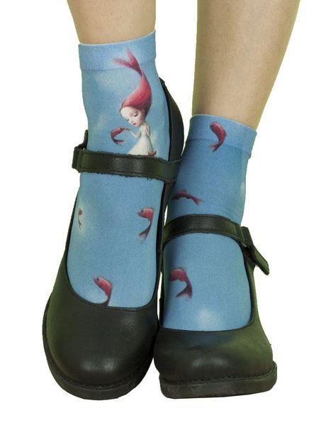 Chaussettes fantaisie imprimées Liligambettes thème Kléodora
