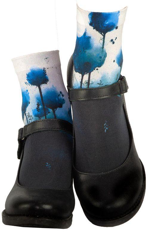Chaussettes imprimées fantaisie indigo Liligambettes