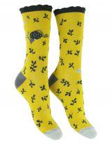 Chaussettes jaunes coton biologique Liligambettes thème dream