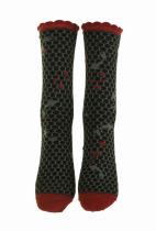 Chaussettes koi noir écologiques liligambettes