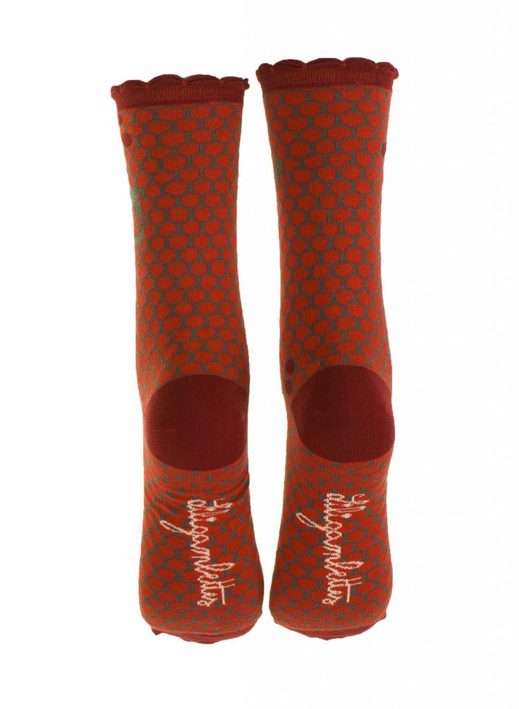 Chaussettes koi rouge en coton bio Liligambettes