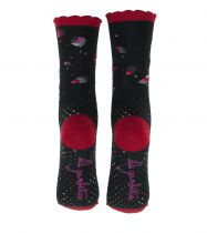 Chaussettes noires écologiques Liligambettes thème perfolio
