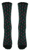 Chaussettes noires fantaisie en coton biologique Lili gambettes