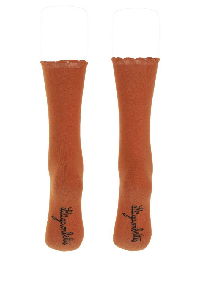 Chaussettes oranges lili gambettes