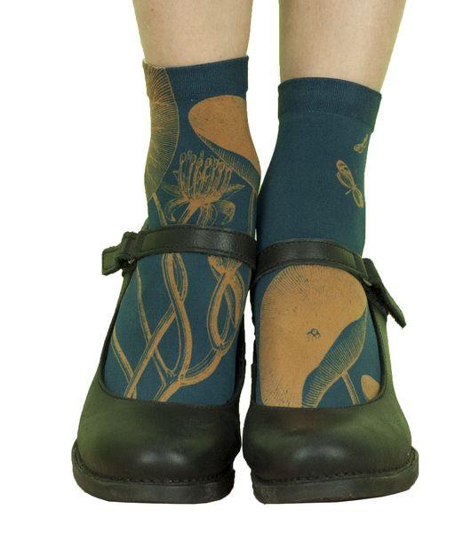 Chaussettes originales femme Liligambettes thème nénuphars
