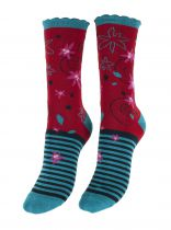 Chaussettes rigolotes coton bio Liligambettes thème edelweiss