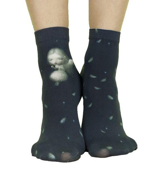 Chaussettes rigolotes imprimées Liligambettes thème angel