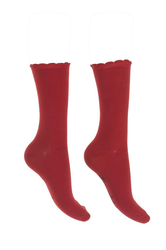 Chaussettes rouge carmin Lili gambettes
