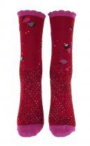 Chaussettes rouges coton biologique Liligambettes thème perfolio