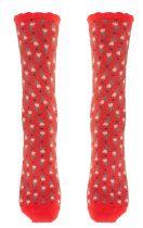 Chaussettes rouges fantaisie en coton bio Lili gambettes