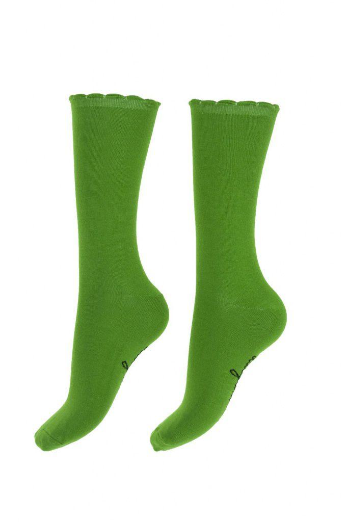Chaussettes vertes chlorophyle Lili gambettes