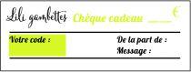 Chèque Cadeau Lili gambettes