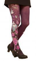Collants de créateurs imprimés Kitsch\'N violets Lili Gambettes