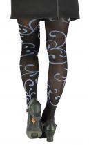 Collants fantaisie arabesques noires Lili gambettes