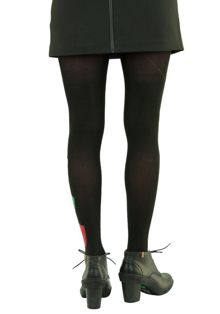 Collants fantaisie en lycra tige noir Lili gambettes