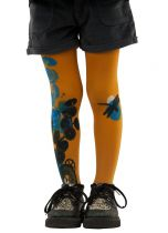 Collants fantaisie enfants oranges Lili gambettes
