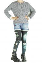 Collants fantaisie imprimés noirs « O » pour enfant Lili gambettes