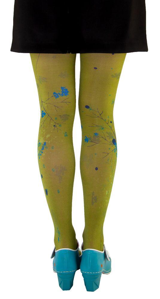 Collants fantaisie kaki imprimés Liligambettes