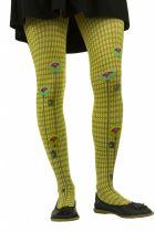Collants fantaisie Lili gambettes thème fleurs vertes