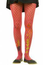 Collants fantaisie Liligambettes thème coquelicots rouges
