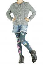 Collants fantaisie pour enfant bleus Kitsch Lili gambettes