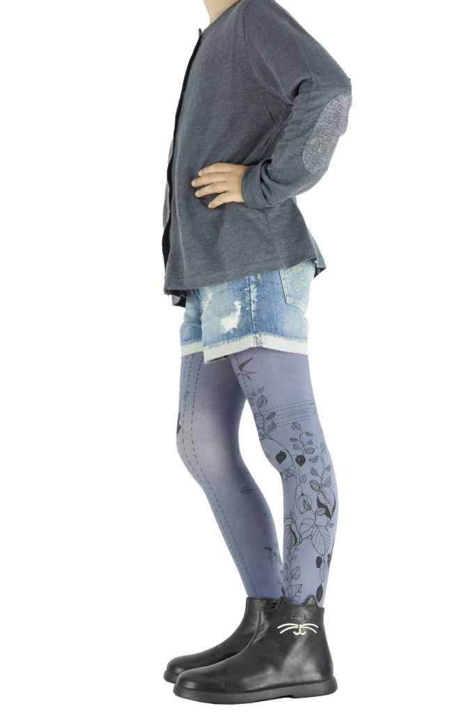 Collants fantaisie pour fille bleus Printemps Lili gambettes