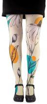 Collants femme fantaisie fleurs Liligambettes