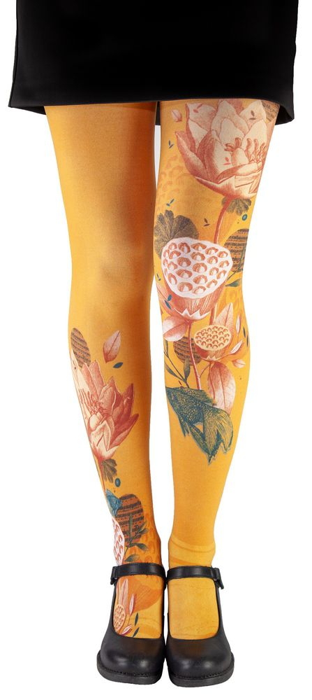 Collants femme fantaisie nénuphars Liligambettes