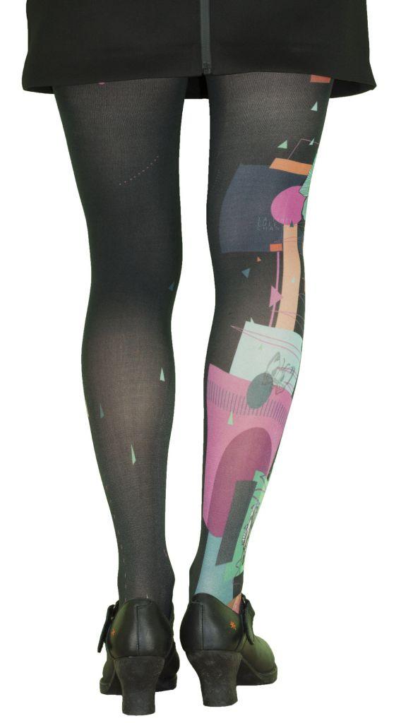 Collants femme haut de gamme grande taille Liligambettes thème pop art