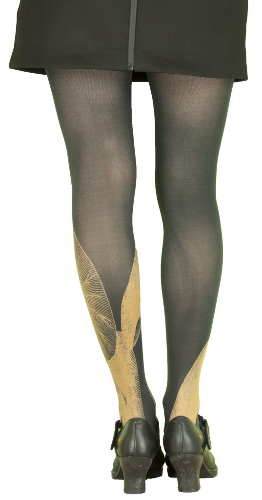 Collants femme opaques grande taille Liligambettes thème nénuphars