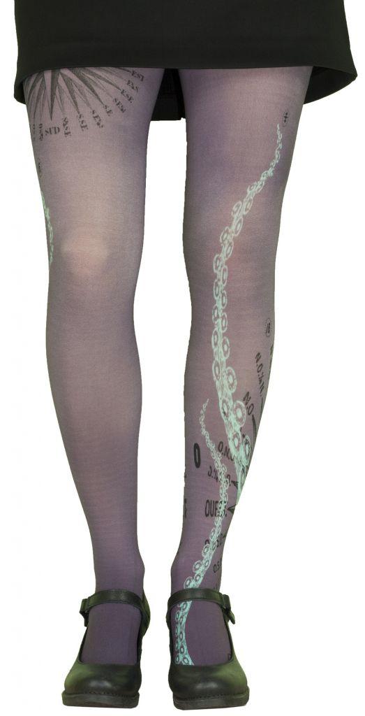 Collants femme originaux grande taille Liligambettes thème tentacules