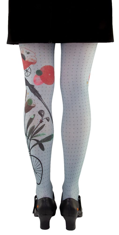 Collants gris imprimés colibri Liligambettes