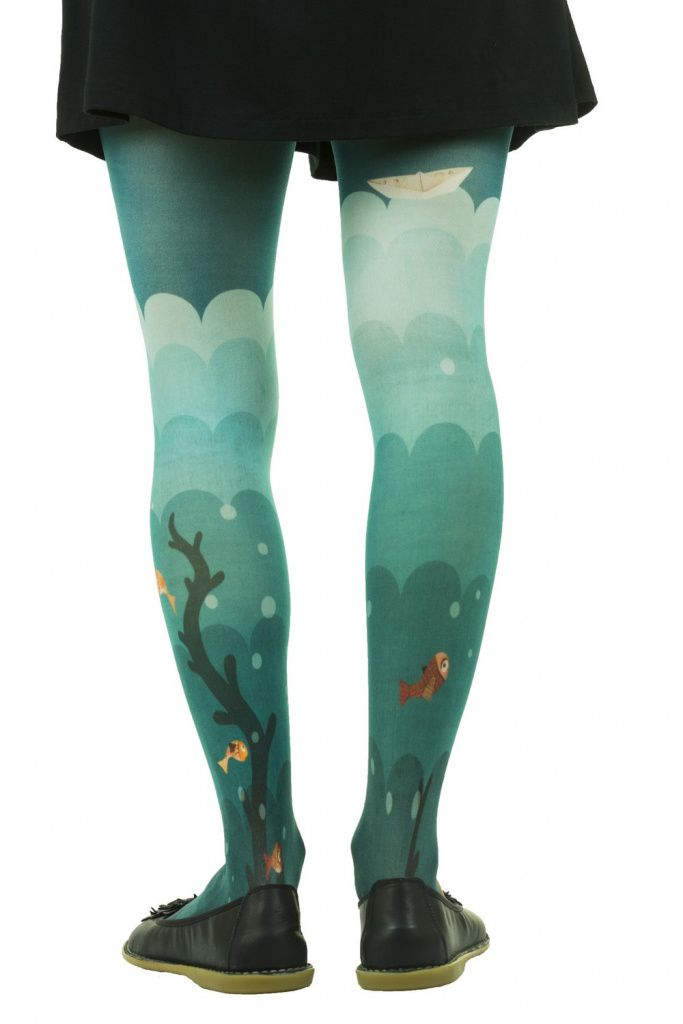 Collants imprimés  Lili gambettes thème sirène Chloé Rémiat