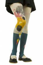 Collants imprimés Lili gambettes thème sous les bois