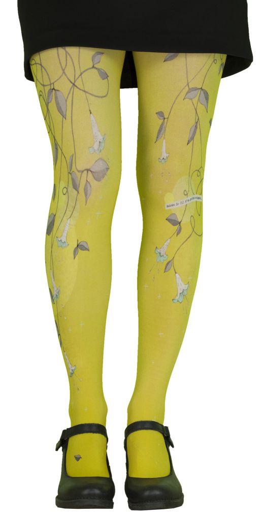 Collants jaunes résistants  Liligambettes thème clochette