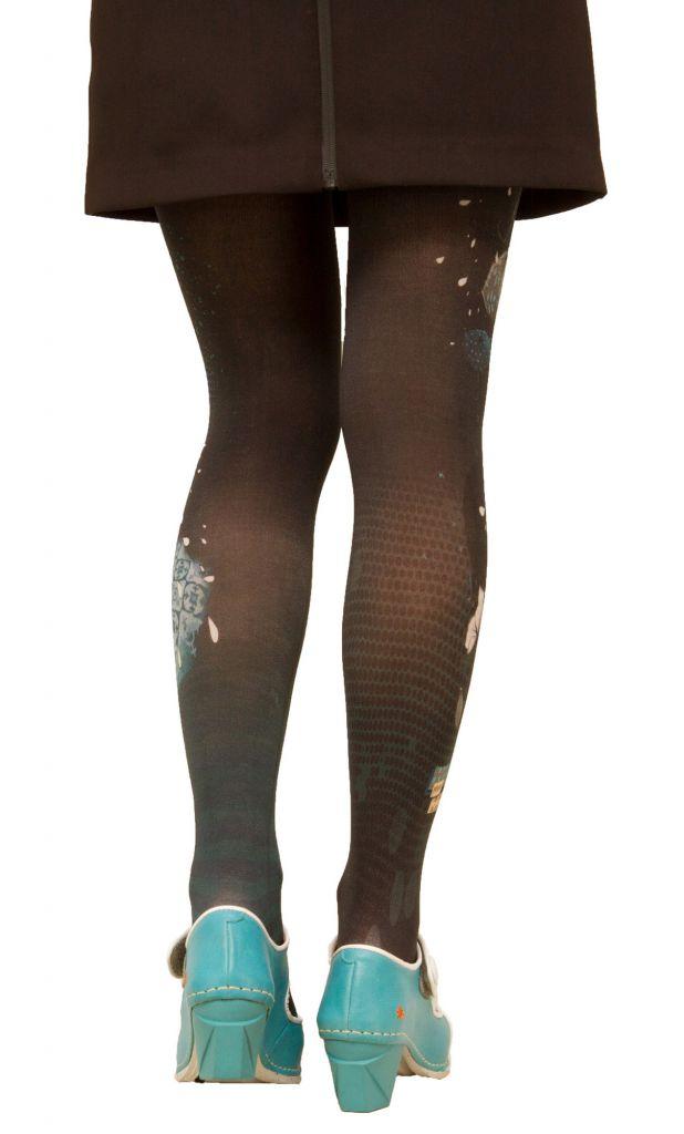Collants noirs fantaisie « O » Lili gambettes
