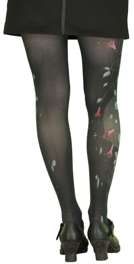 Collants noirs opaques grande taille Liligambettes thème clochette