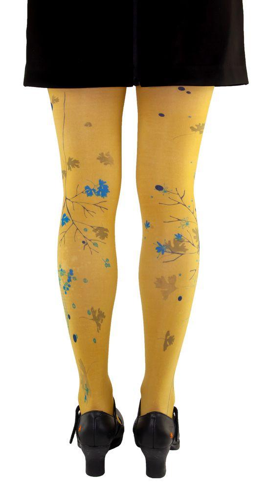 Collants originaux jaunes coriandre Liligambettes