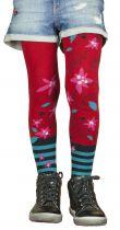 Collants rouges fille Liligambettes en coton bio thème edelweiss