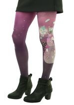 Collants violets imprimés Monde alanvair Liligambettes