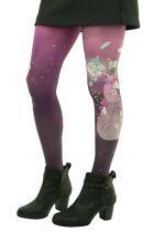 Collants violets imprimés Monde alanvair Liligambettes